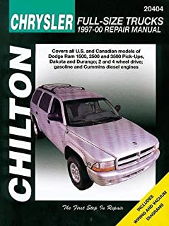 Chilton Chrysler Full-Size Trucks 1997-01 Repair Manual: Covers All U.S. and Can