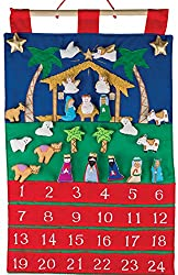 Add more and more into the image of this Nativity scene using felt figures you will pull out of a pocket each day of your countdown.