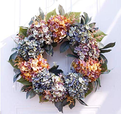 Beautiful Fall Wreath Multicolor flowers and leaves