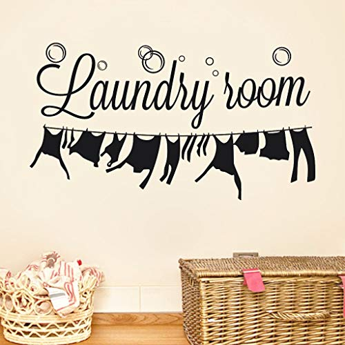 Price comparison product image Emptystar Wall Stickers - Wall Murals for Laundry Room Wall Sticker Decal PVC Wall Decal Self Adhesive DIY Decal Sticker Vinyl Carving Decal Sticker for Laundry Decoration,  57x31cm