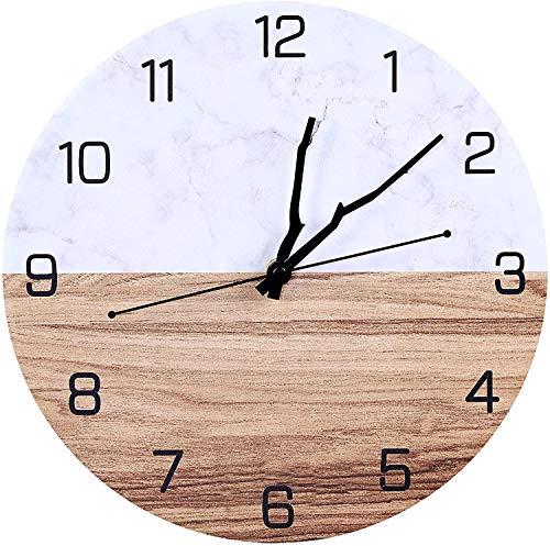 Orologio da parete Moderno, 30cm Orologio da parete Oderni Grande Cucina, Vintage Orologio da Muro Orologio da parete Moderni, Orologio da Muro al Quarzo con Movimento Silenzioso Sweep