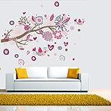 YXWLKG Dekorative GemäldeKarton Vogel Aufkleber Schlafzimmer Wohnzimmer DIY abnehmbare PVC Kunst tapete schöne wohnkultur niederlassungen Aufkleber