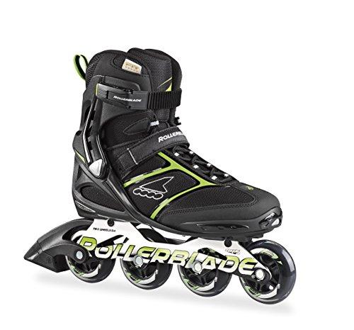 Rollerblade Herren Inlineskate Spark 80, Black/Green, 28.5