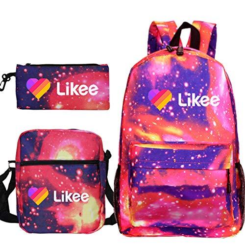 LIKEE High Quality Backpack Cute Backpack Teens Backpacks Book Bags Book Bags for Girls Boys Likee Popular Backpack 25 Pen Bag