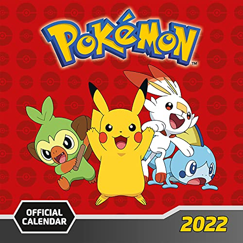 Official Pokemon 2022 Calendar – Month To View Square Wall Calendar