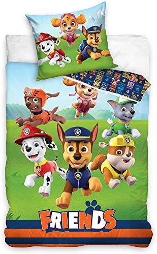 Paw Patrol Bettwäsche 140x200 + 70x80, 100% Baumwolle Kinderzimmer Kinder Junge Dream Bettbezug