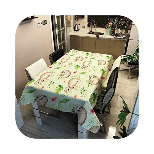 ETWJ Mantel impermeable de poliéster impreso mantel rectangular para el hogar, comedor, mesa de café, para sala de estar, ZB2120-13-100 x 140 cm