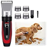 Dog Grooming Clippers Professional Dog Grooming Kit - Rechargeable, Pet Grooming Clippers Complete
