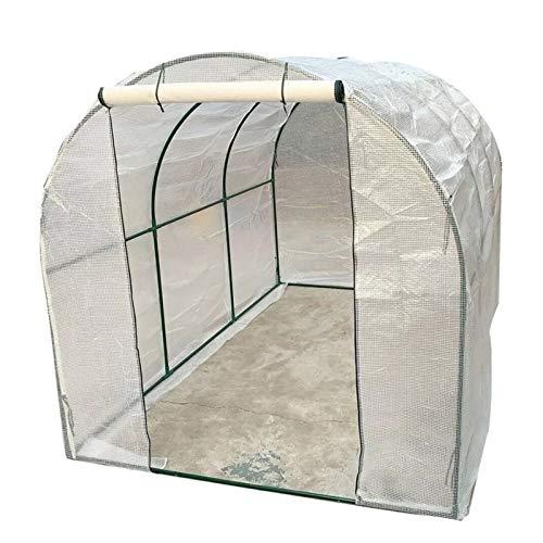 Invernaderos jardin plastico huerto terraza Exterior Invernadero con marco de acero resistente,...