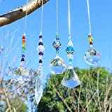 YUFENG Set mit 5 Kristall-Sonnenfänger-Perlen