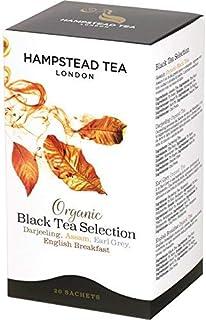 Hampstead Tea London Bio Schwarzer Tee, 5 x Darjeeling, 5 x Assam, 5 x Earl Grey und 5 x englisches Frühstück, 20 Teebeutel 40 g
