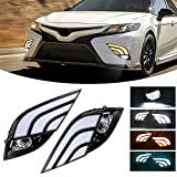 Daytime Running Light For Toyota Camry 2018 2019 2020 Fog Light Replacement Tri-Colors DRL With LED Lamp Bulb Camry SE XSE LED Daylight with Bezel