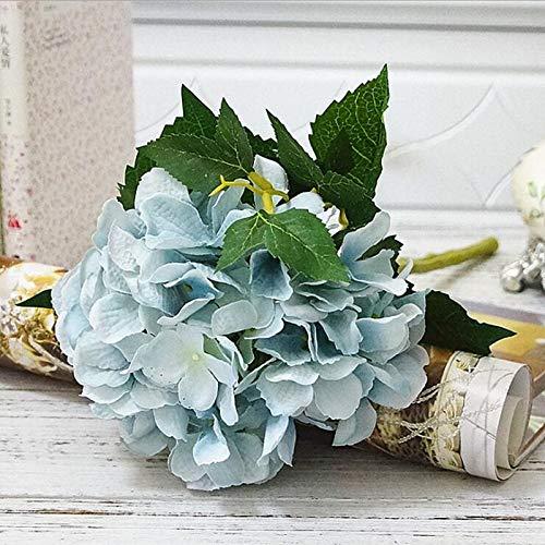 MEITAO Kunstmatige hortensia bloementak kunstmatige hortensia voor bruiloften en herfstfeestjes DIY op de herfstkroon hortensia D