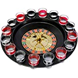 Evelots Drinking Shot Glass Roulette Game-Casino Style-16 Shot Glasses Included