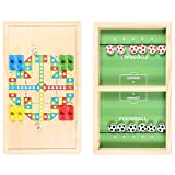 ZYuan Brettspiel Hockey,2 in 1 Fußball Fast Sling Puck Spiel Tischfußball Slingshot Spielzeug Katapult Schach Katapult Gewinner Brettspiele für Eltern-Kind Kinder Erwachsene (Size : Small)