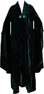 Minerva McGonagall Dress Cosplay Costume Dark Green Cloak Trench Coat Outfits New