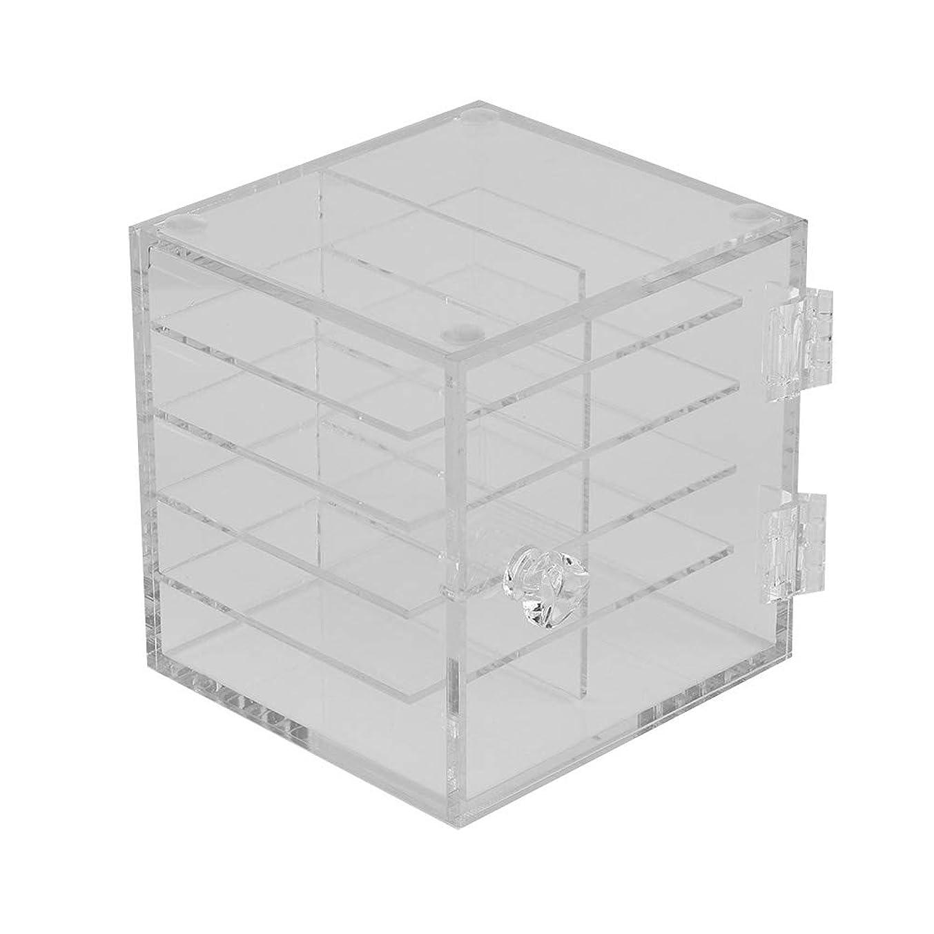 法律三膨張する6層 まつげ収納ブックス アクリル製 まつげ収納ケース まつげエクステンションツール 小物収納ボックス透明 卓上化粧ボックス アクリル収納