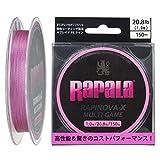 Rapala(ラパラ) PEライン ラピノヴァX マルチゲーム 150m 1.0号 20.8lb 4本編み ピンク RLX150M10PK