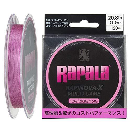 ラパラ ラピノヴァX マルチゲーム 150m 1.0号 20.8lb 4本編み ピンク