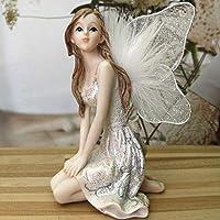 装飾品置物ギフト室内装飾妖精の置物樹脂装飾女の子天使の家の装飾結婚式の装飾ギフト女性