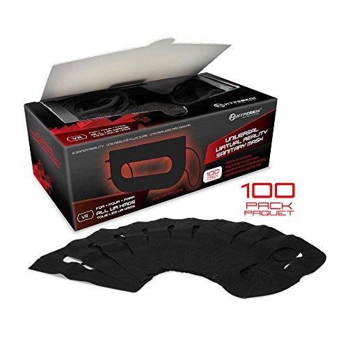 Hyperkin Universal VR Sanitary Mask V2.0 for HTC Vive Pro/ HTC Vive/ PS VR/ Gear VR/ Oculus Rift (Black) (100-Pack)