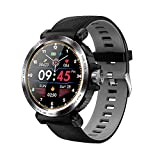 Zwbfu S18 Smart Watch Bracelet Waterproof Full-Touch Colorful Screen Heart Rate Blood Pressure Monitoring Stopwatch Alarm Clock Remote Camera On and Off Dispaly Multi-Sport Mode Smartwatch