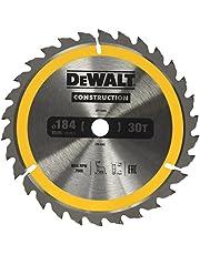 Dewalt DT1940-QZ DT1940-QZ-Hoja para construcción 184 x 16 mm 30T (AC), żółty, 184 x 16 mm