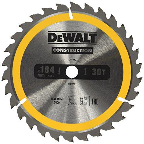 Preisvergleich Produktbild Dewalt Bau-Kreissägeblatt für Handkreissägen (184 / 16,  30WZ,  für universellen Einsatz auf Handkreissägen,  1 Stück) DT1940-QZ