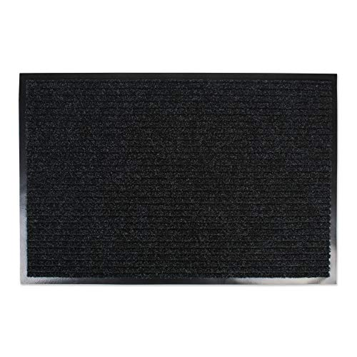 DII Durable Low Profile, Pet Friendly Indoor/Outdoor Doormat for Home or Commercial Use, 24x36, Charcoal Black Utility Mat