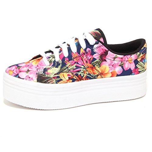 Jeffrey Campbell 6848P Sneaker Zeppa JC ZOMG Blu/Fucsia Scarpa Donna Shoe Woman [41]