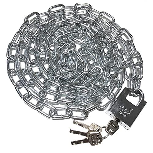 WXYZ candado llave Cerradura de cadena de acero, cerradura de seguridad a prueba de agua, a prueba de agua y anti-cizallamiento, utilizado para la cerradura antirrobo de la puerta del almacén de bicic