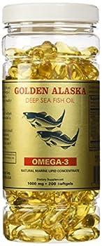 Golden Alaska Deep Sea Fish Oil Omega-3 1000 Mg 200 Capsules