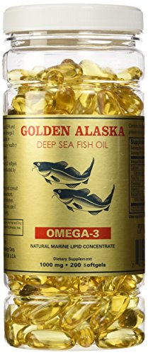 Golden Alaska Deep Sea Fish Oil Omega3 1000 Mg 200 Capsules