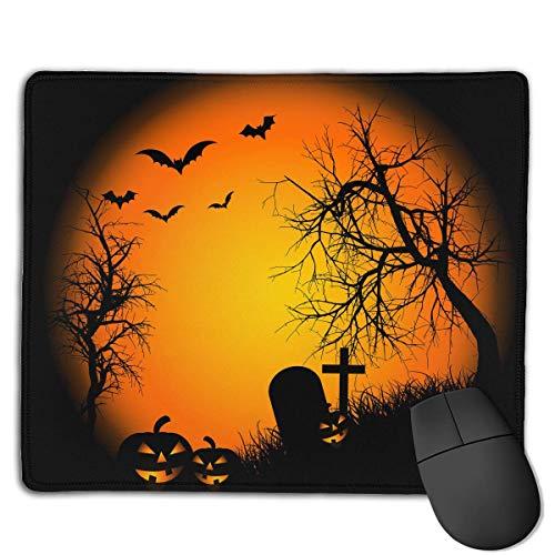 Alfombrilla de ratón Happy Halloween Bat Pumpkin Rectangular Mousepad Antideslizante Gaming Mouse...