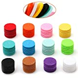 Maromalife 60 PCS Essential Oil Refill Pads, 0.67 Inch Felt Pads Aromatherapy Replacement Pads for Diffuser Necklace Diffuser Bracelet Car Diffuser Vent Clip
