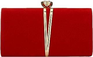 Elegante Damen-Clutch aus Veloursleder-Samt, Schultertasche, für Abendveranstaltungen, Abschlussbälle, Hochzeiten