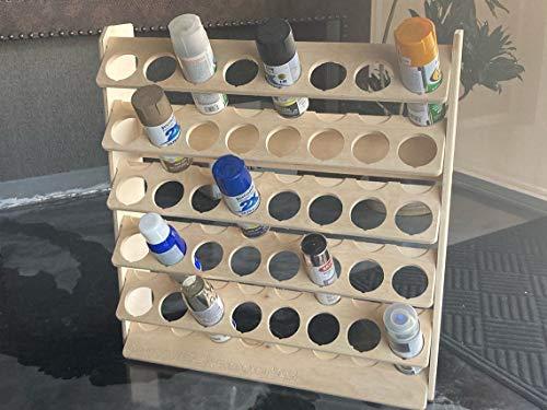 Spray Can Lube Holder Organization Storage Rack Wood Shelf Case Organizer 40-Slot Plywood