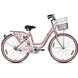 Hero Fashion 26T Single Speed Ladies Bike (Pink, Ideal For : 12+ Years )