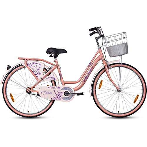 Hero Fashion 26T Single Speed Ladies Bike (Pink, Ideal For : 12+ Years )