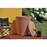 Technik Tuscan 275L - Serbatoio per acqua in terracotta, irrigazione da giardino per esterni, raccolta delle acque piovane