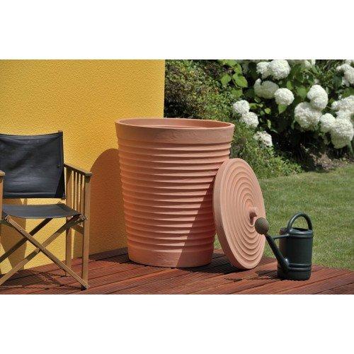 Technik Tuscan Regentonne, 275 l, Terrakotta-Stil, für den Außenbereich, Gartenbewässerung, Regenwasserernte
