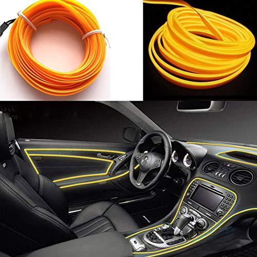 Preisvergleich Produktbild El Seil Licht Auto Kit 3m / 9ft Neon Lichter unter Dash Lighting Kit für Auto Innenbeleuchtung Upgrade One-Line-Design (Gelb)