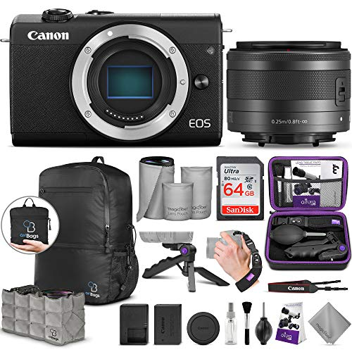Canon EOS M200 Mirrorless Digital Camera with EF-M 15-45mm Lens with Altura Photo Advanced Accessory and Travel Bundle