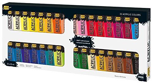 Kreul Solo Goya Acrylfarben im Set, 32 Farben