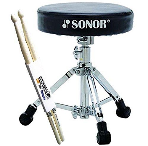 Sonor DT XS 2000 Drum Hocker extra niedrig + keepdrum Drumsticks 1 Paar