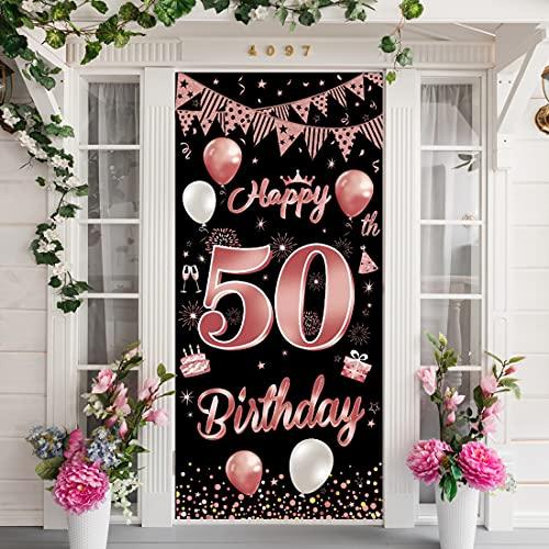 50. Geburtstag Banner,50.Geburtstag Dekoration, 50 Geburtstag Deko,50 Jahr Geburtstagdeko,Banner 50. Geburtstag Deko, 50 Geburtstag Girlande Banner,50 Geburtstag Frau Hintergrund Deko