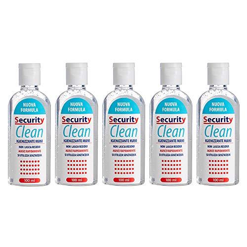 Security Clean Gel Igienizzante Mani Set 5 Pezzi Da 100 ML Con 75%...