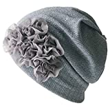 CHARM 医療用帽子 抗がん剤 フリーサイズ/グレー ニットキャップ ニット帽 帽子