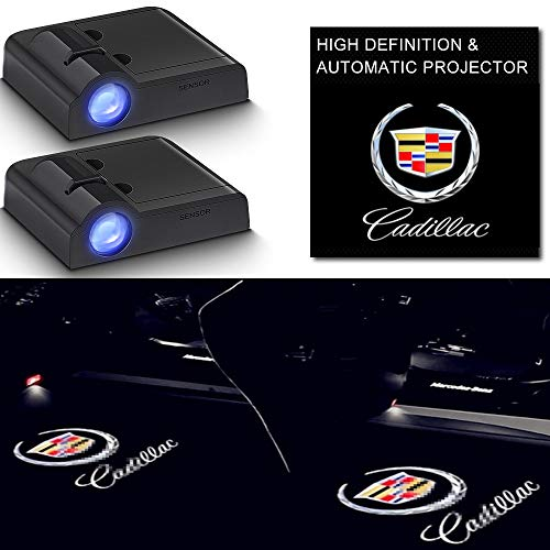 Car Door Led Logo Projector Light for the Replacement of Cadillac Escalade Deville ESV SRX CTS DTS ATS CT4 CT5 CT6 XT5 XT4 XT6 XTSCar Accessories Wireless Welcome Shadow Lights
