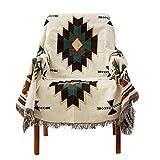 Decken,Sofabezug im amerikanischen Ethno-Stil, geometrische Strickdecke Sucre Jacquard -130 * 180 cm